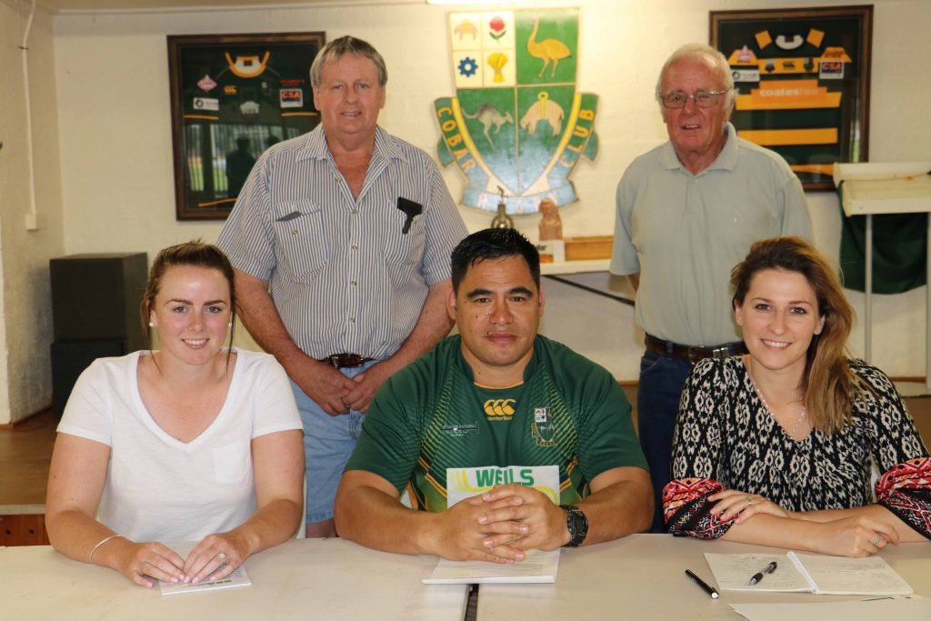 The Cobar & District Rugby Union Club's new executive of Penny Colwell (secretary), Mal Harris (co-vice president), Stephen Gillette (president), Kevin Mitchell (co-vice  president) and Maggie Wall (treasurer) were elected at the club's annual general meeting on Sunday to lead the Camels into the 2017 season.