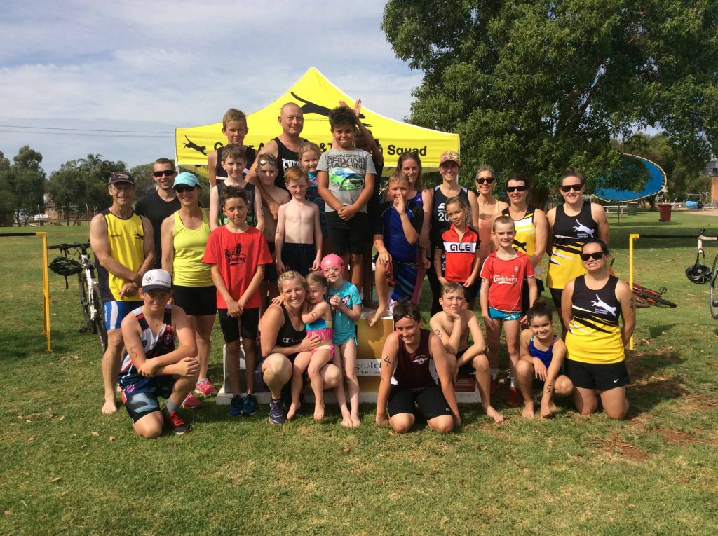 Competitors at Sunday's CATS' triathlon event.  Photo contributed