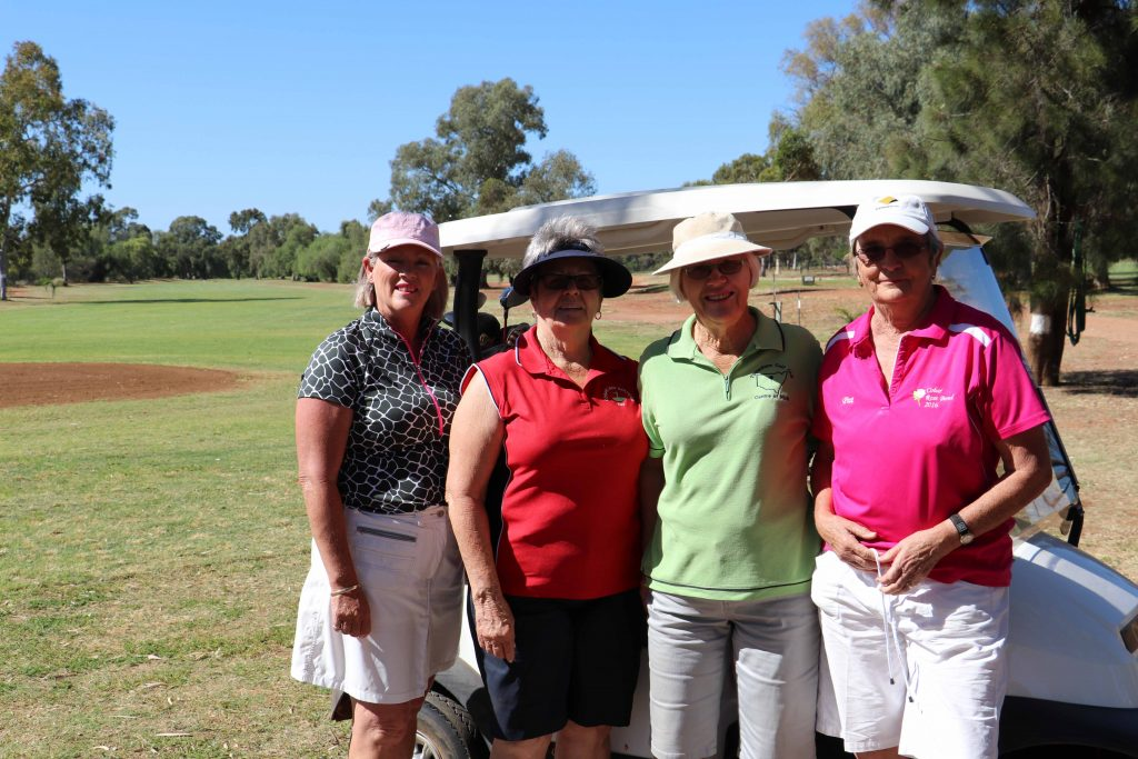 Linda McCutcheon (from Trangie), Fay Hardwick, the overall winner Trish Vincent (Tottenham) and Pat Polack at the Cobar Veteran's Day golf event on Friday.