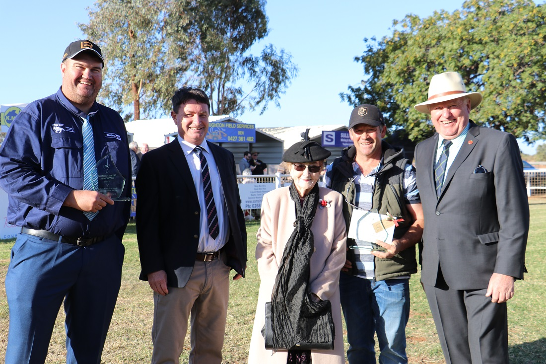 Cobar Races Jarrod Marsden and official guests Andrew Schier, Lilliane Brady, (trainer Brett Thompson) and Rick Colless