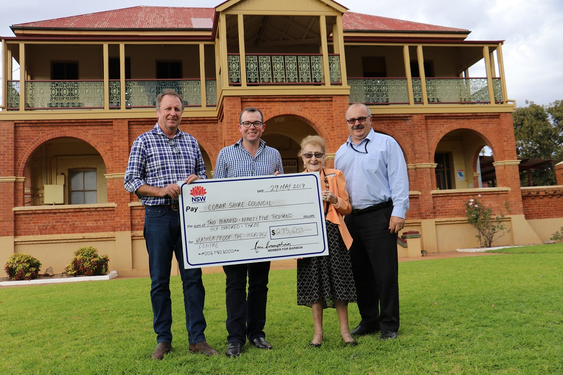 Grant funding for museum Kevin Humphries, Adam Marshall, Lilliane Brady and Peter Vlatko
