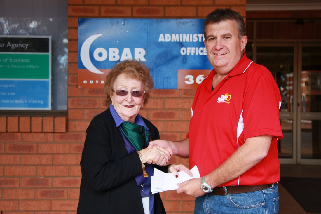 Redpath donation to cemetery Lilliane and Allan Brady