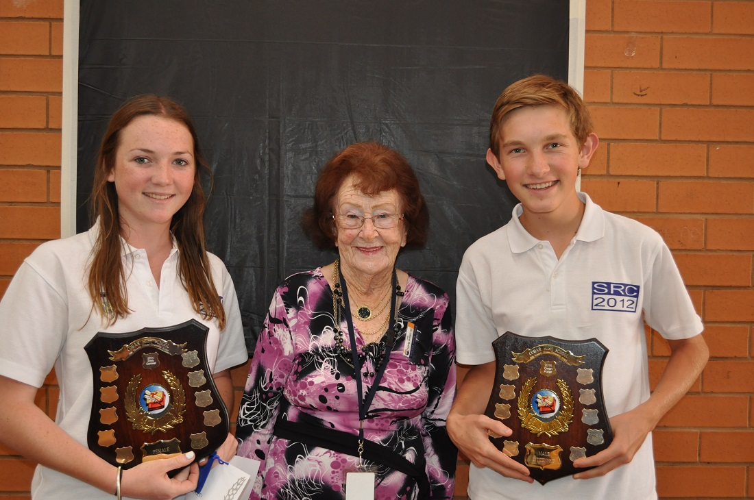 contributed patched up CHS Awards Lilliane Brady with Emily Carswell and Owen Potter
