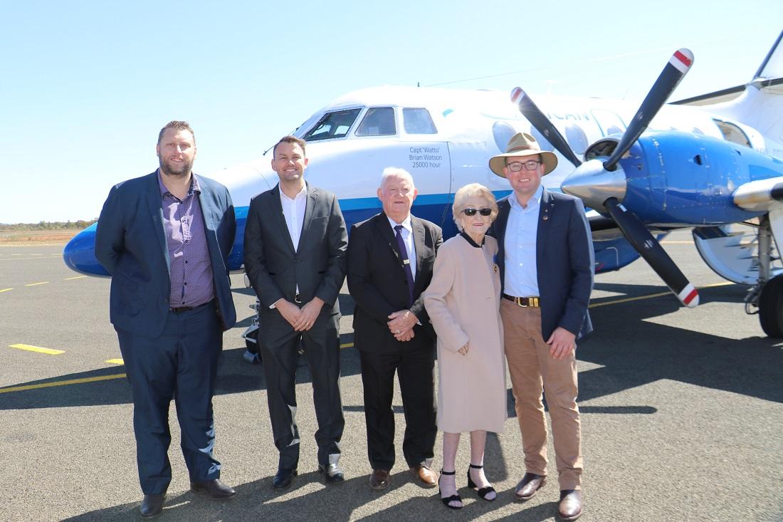 Air Services launch Marty Hawley, Emil McCabe, Barry Hollman, Lilliane Brady and Adam Marshall