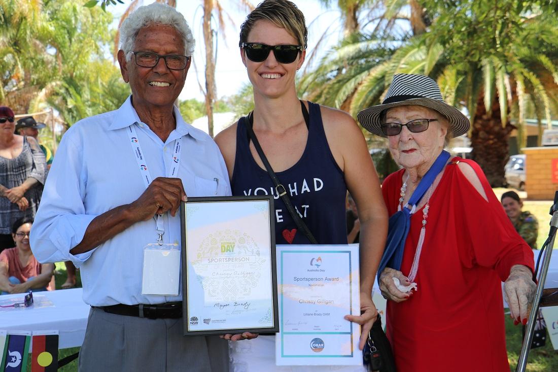 Australia Day awards John Moriarty Casey someone and Lilliane Brady