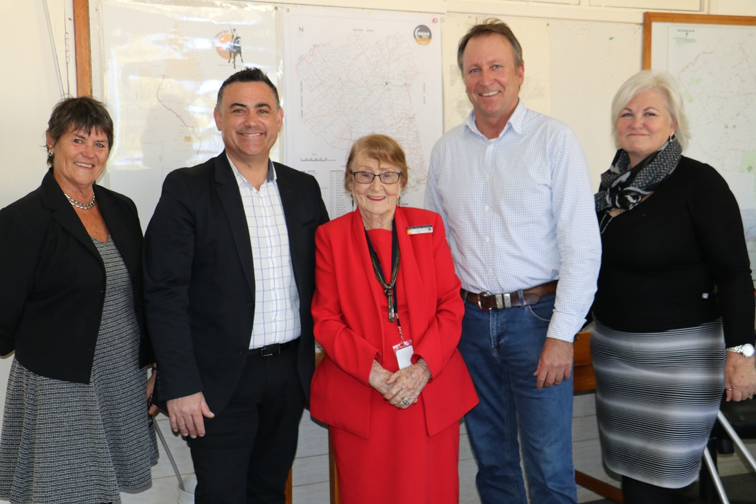 Deputy Premier John Barilaro with Kevin Humphries, Lilliane Brady and councillors