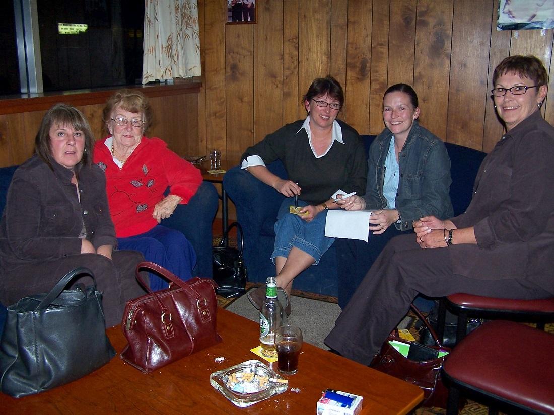 Hospital Committee meeting #2 – Julie Urquart, Lilliane Brady, Karen Brewster, Mary Urquhart and Marlene Whynd