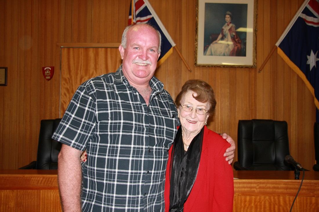 New mayor and deputy Greg Martin and Lilliane Brady